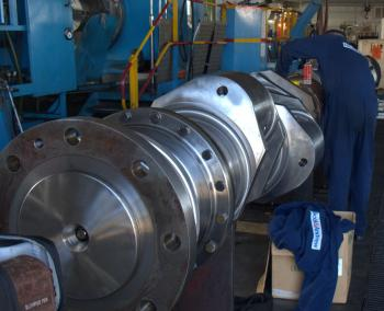 crankshaft machining onsite